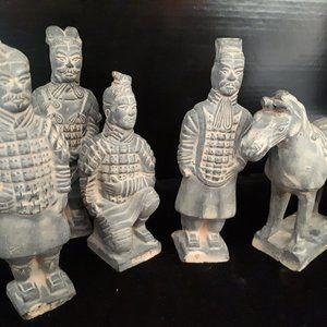 Vintage set of Terracotta Warriors Plus Horse